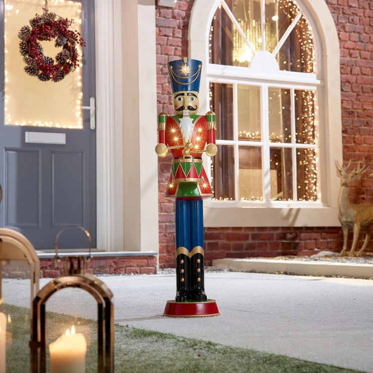 Norbert the 3ft Red Christmas Nutcracker with Drum