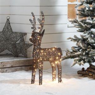 Ralph the 100cm Brown Rattan Christmas Reindeer