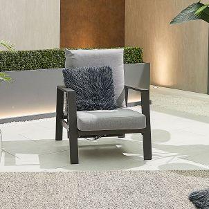 Enna Aluminium Armchair - Grey Frame