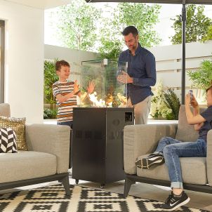Piza Square Firepit Tower