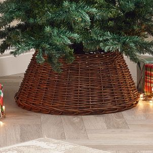 60cm Willow Christmas Tree Skirt Skirt - Brown