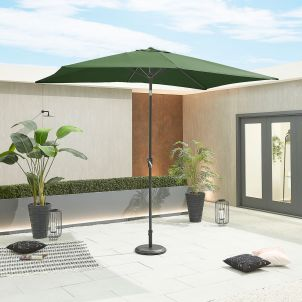 Antigua 3m x 2m Rectangular Aluminium Parasol - Crank & Tilt - Green