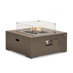 Lunar Aluminium Square Firepit Coffee Table - Coffee