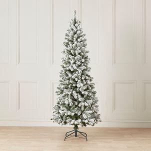 7ft Snowy Slim Balsam Fir Artificial Christmas Tree