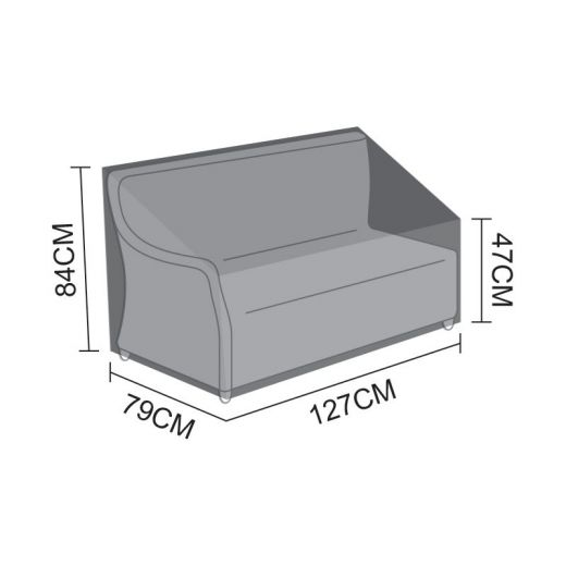 Cover for Oyster Left Handed 2 Seater Sofa Section