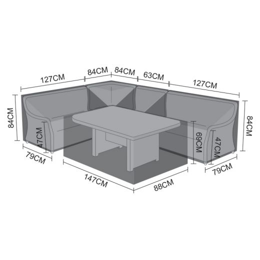 Cover Pack for Oyster Casual Dining Corner Sofa Set