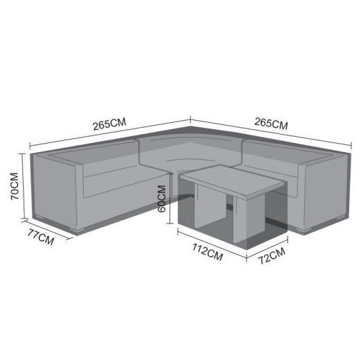 Cover For Barcelona Corner Sofa Set With Casual Table
