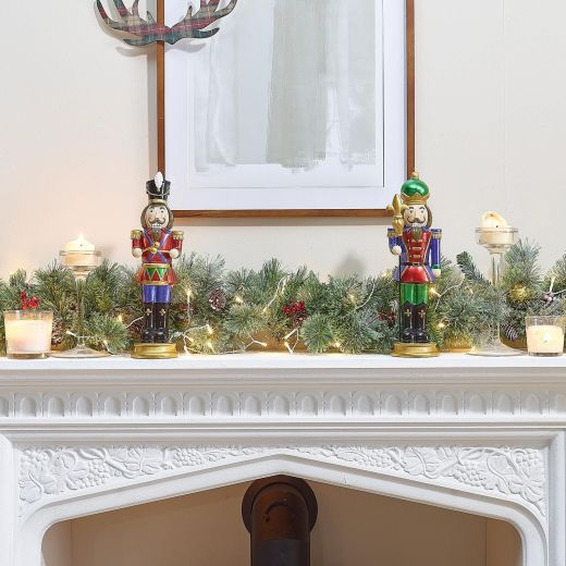 Pair of 1ft Augustine & Augustus Christmas Nutcrackers