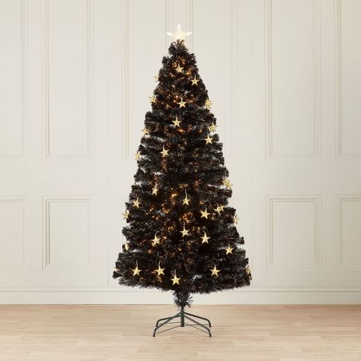 4ft Fibre Optic Midnight Star Artificial Christmas Tree