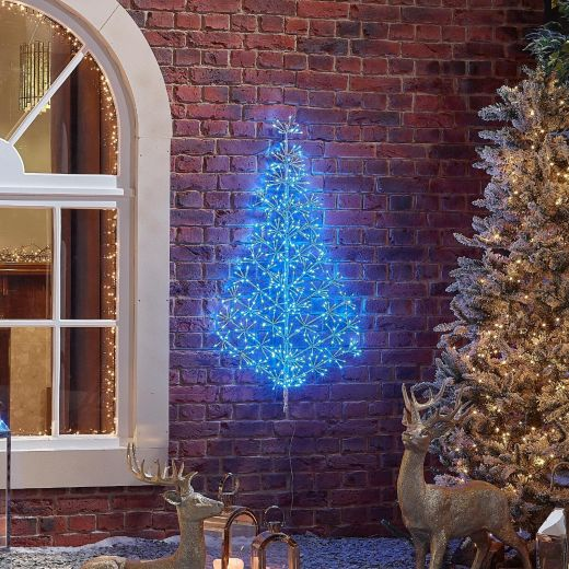 120cm Starburst Christmas Tree - Blue