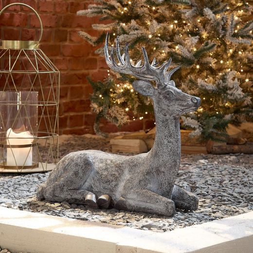 Sachie the 57cm Grey Sitting Christmas Reindeer