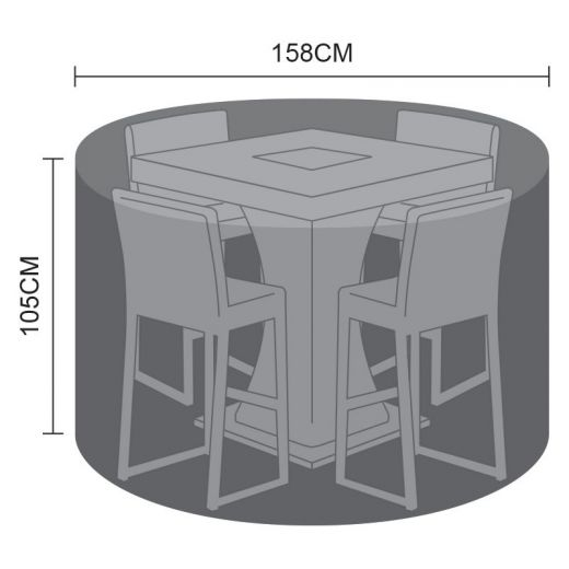 Cover for 4 Seat Bar Set - 158cm x 105cm