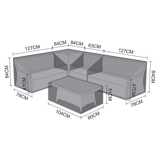 Cover Pack for Oyster Corner Sofa Set
