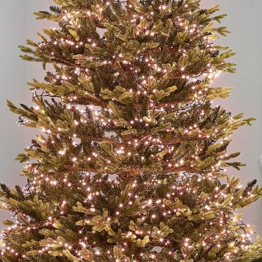 1500 Copper Glow LED Compact Cluster Christmas Tree Lights (37.5m Lit Length)