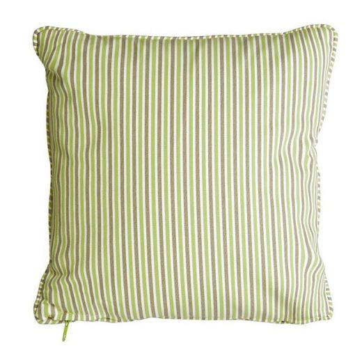 Alexander Rose - 45cm Scatter Cushion - Light Green Stripe