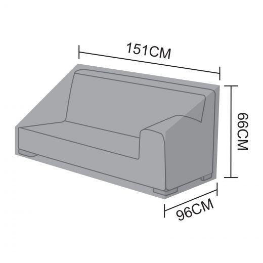 Cover for Luxor Left Hand 2 Seat Sofa Section - 151cm x 96cm x 66cm