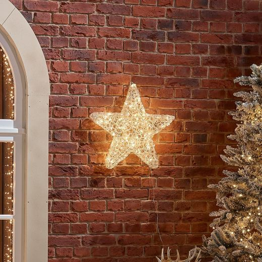 50cm Soft Acrylic Christmas Star - Warm White