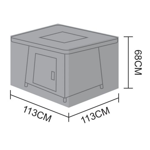 Cover for 1.1m Square Table - 113cm x 113cm x 68cm