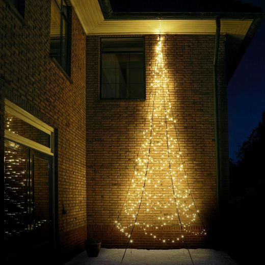Fairybell 6m 450 Warm White LED Outdoor Wall Christmas Tree