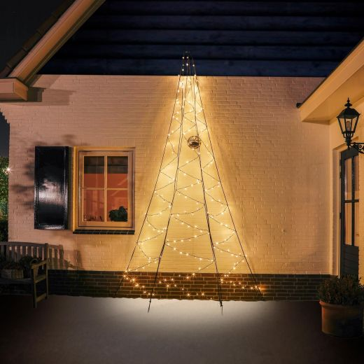 Fairybell 4m 240 Warm White LED Outdoor Wall Christmas Tree