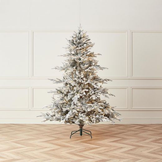 6ft Pre-Lit Snowy Concolor Fir Artificial Christmas Tree