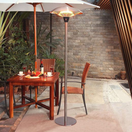 2.1kW Stainless Steel Free Standing Electric Patio Heater
