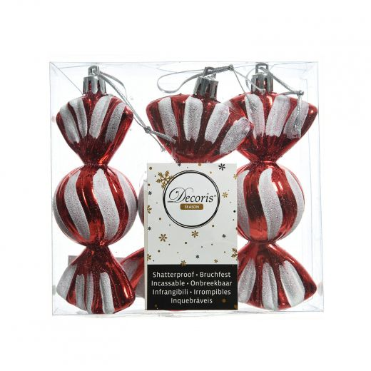 December to Remember Set of 3 Plastic Candy Ornaments