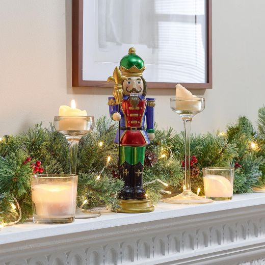 Augustus the 1ft Christmas Nutcracker with Staff