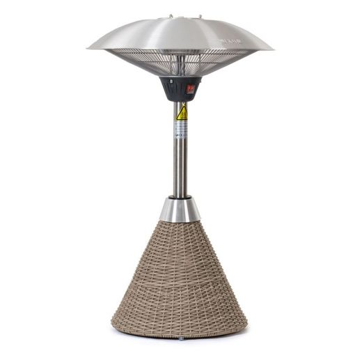 2.1kW Table Top Electric Patio Heater with Rattan Base - Willow