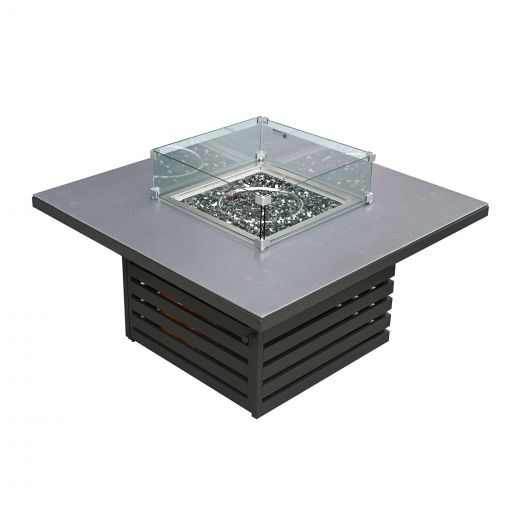 San Marino Aluminium Firepit Table - Grey Frame