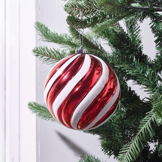December to Remember Large Shatterproof Swirl Bauble