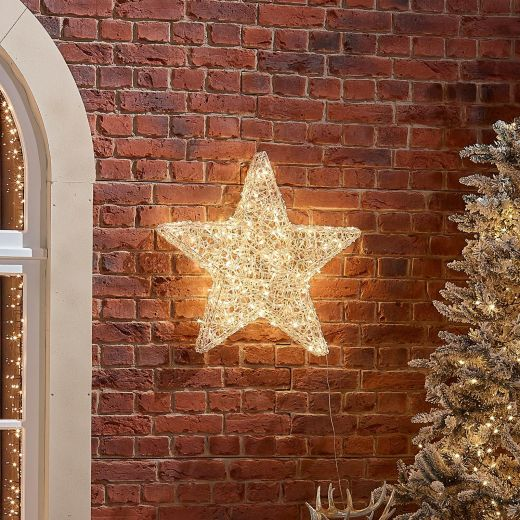 70cm Soft Acrylic Christmas Star - Warm White