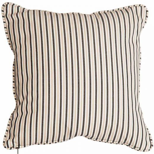 Alexander Rose - 45cm Scatter Cushion - Charcoal Stripe