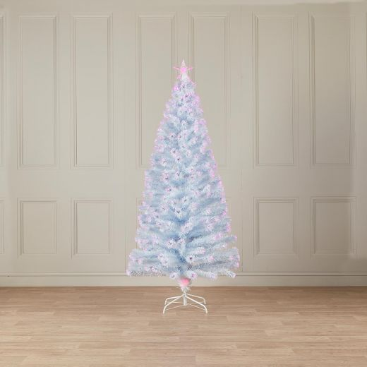4ft Fibre Optic White & Pink Artificial Christmas Tree