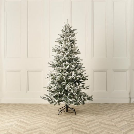 8ft Snowy Lowland Fir Artificial Christmas Tree