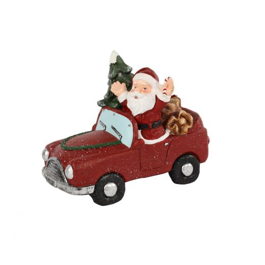 Flashy the 27cm Red Santa with LED Car