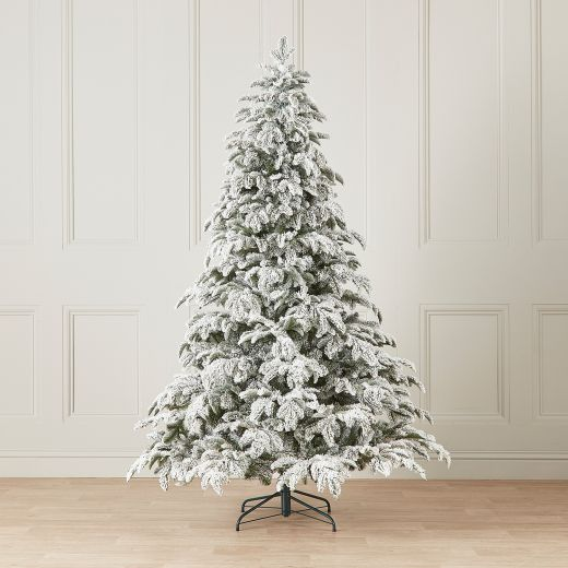 8ft Snowy Noble Pine Artificial Christmas Tree