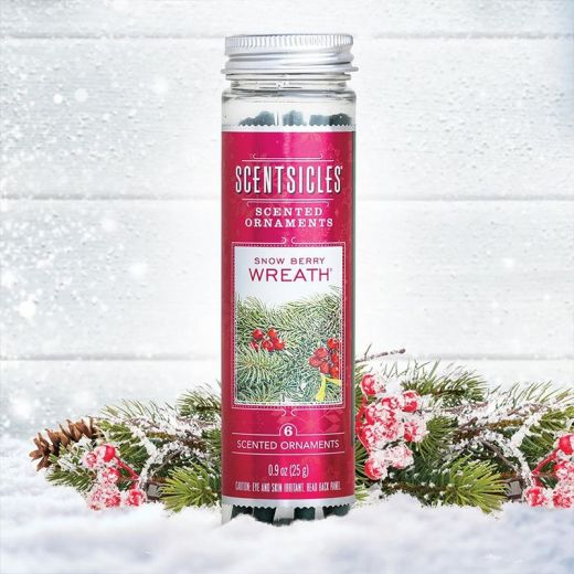 Snow Berry Wreath Scentsicle Scented Sticks Pack Of 6