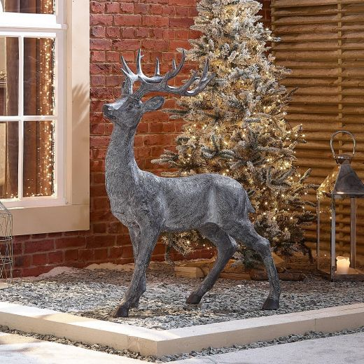 Buck the 130cm Grey Christmas Reindeer