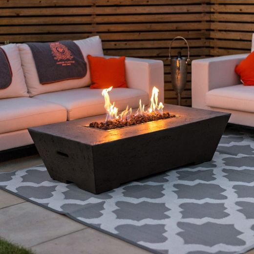 Fireglow Gladstone Rectangular Firepit Coffee Table - Coffee