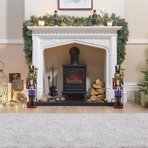 Pair of 2ft Ansel Christmas Nutcrackers