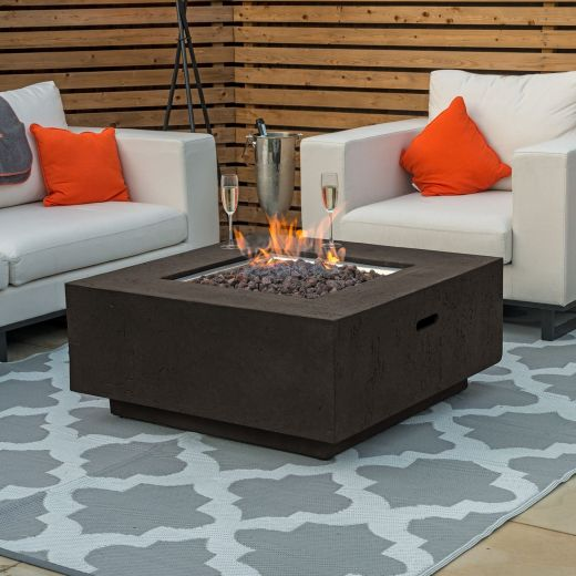 Fireglow Albany Square Gas Firepit Coffee Table - Coffee
