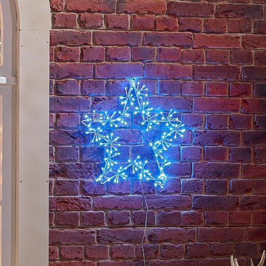 50cm Starburst Christmas Star - Blue