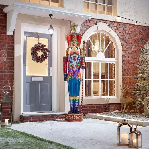 Luka the 8ft LED Musical Nutcracker - Multi Coloured