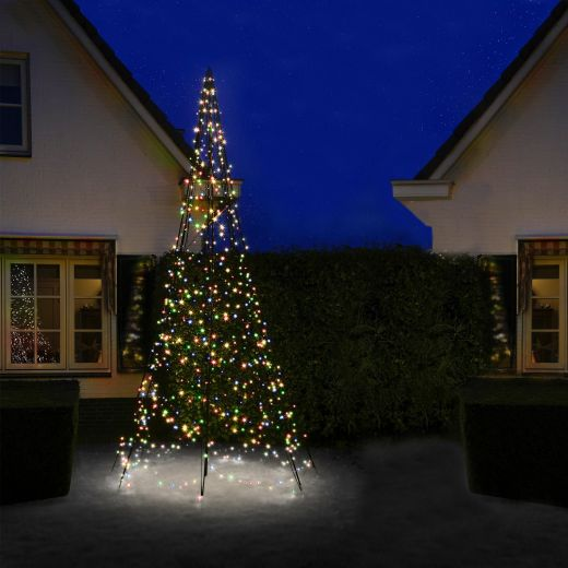 Fairybell 4m 640 Multicolour LED Outdoor Christmas Tree