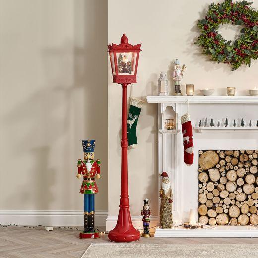 6ft Festive Red Musical LED Lamppost