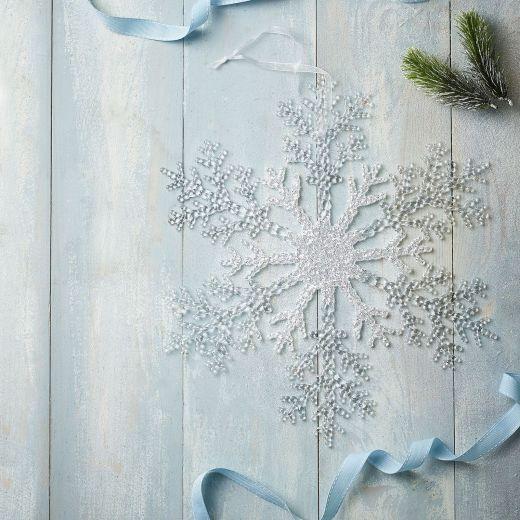 Ice Adventure Plastic Snowflake Hanging Ornament