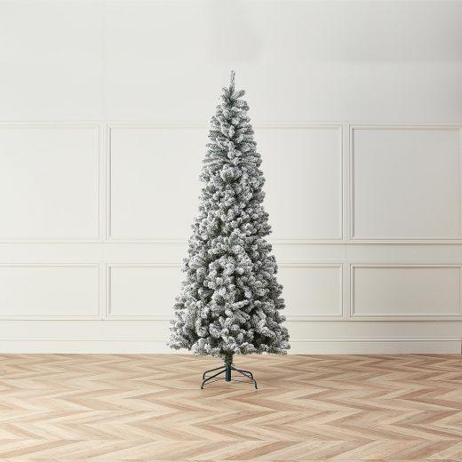 8ft Snowy Slim Balsam Fir Artificial Christmas Tree