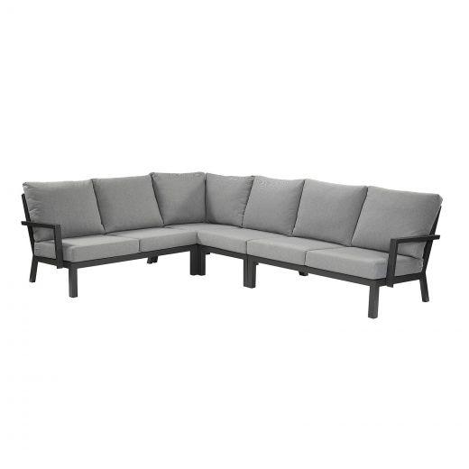 Vogue Aluminium Corner Sofa - Grey Frame