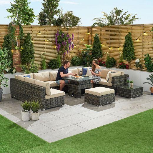 Chelsea 3B Rattan Corner Sofa Set - Brown